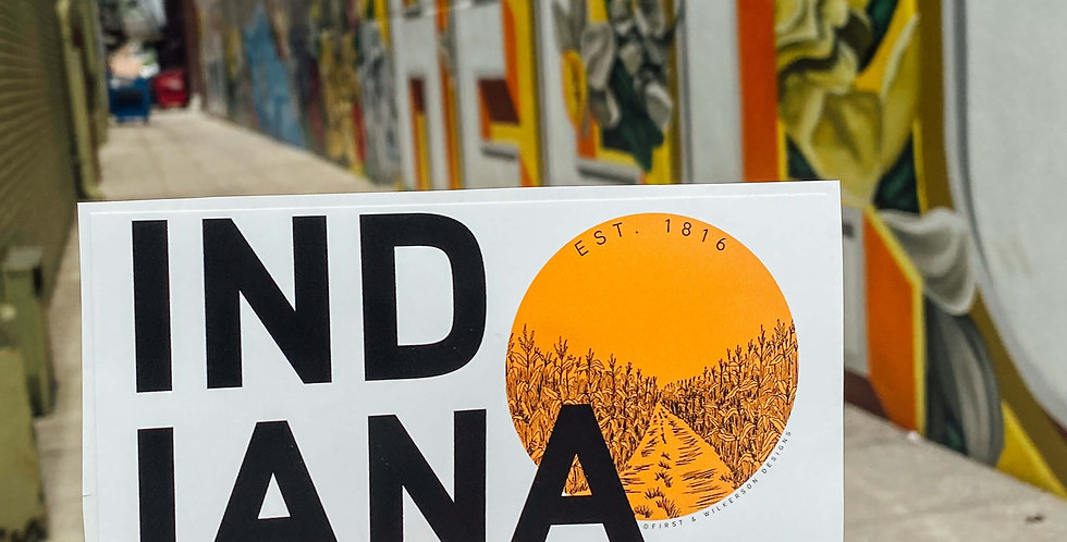 Indiana Sun Sticker