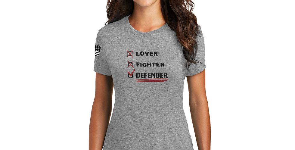 Lover, Fighter, Defender Women's Tee