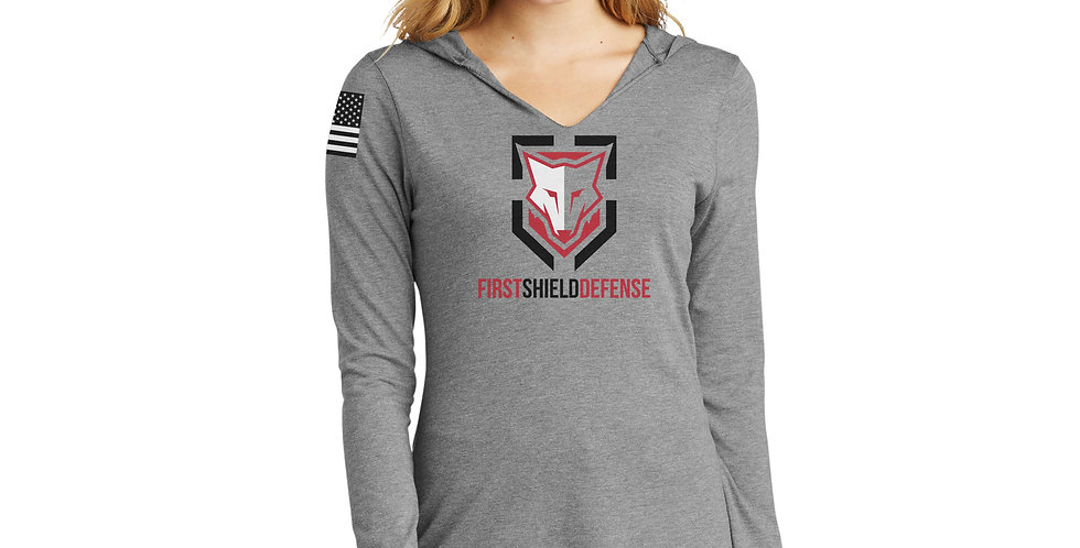 First Shield Defense Women's Long Sleeve Hooded Tee