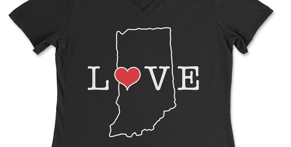 In a State of Love Women's V-Neck Tee