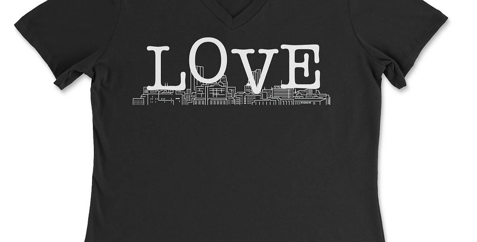 Love Your Town Women's V-Neck Tee