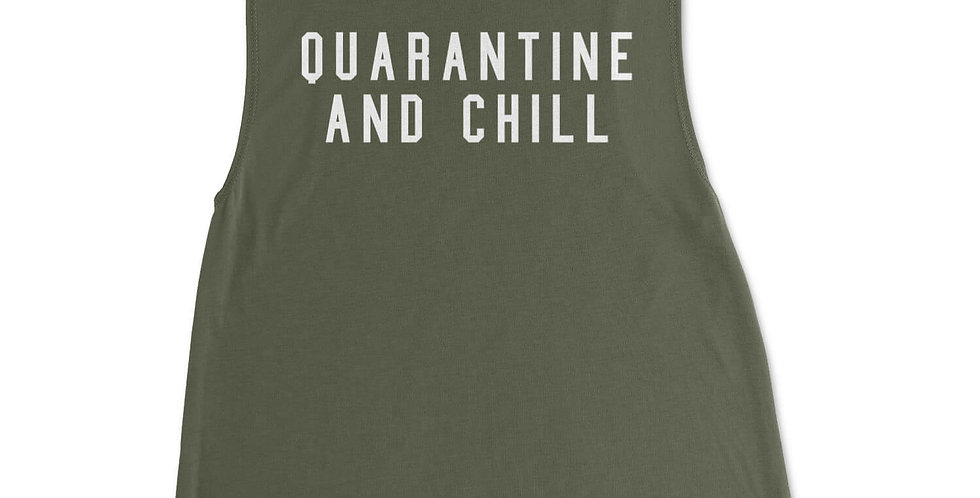 Quarantine & Chill Scoop Neck Muscle Tank