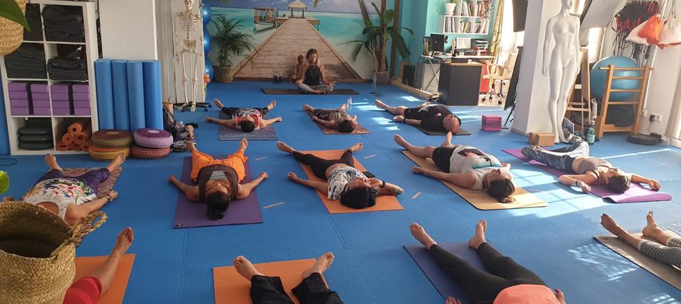 Clase de Yoga meditacion