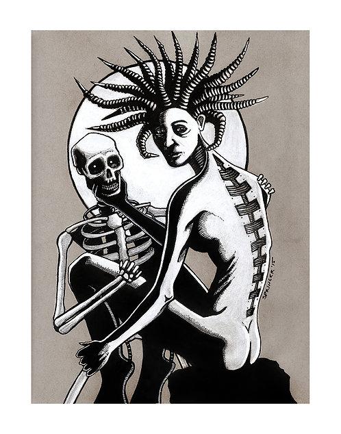 "ART PRINT - ""Skeletons Need Discipline Too"""