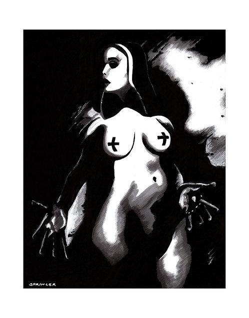 "ART PRINT - ""Naughty Nun"""
