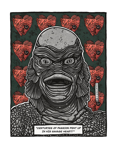 "ART PRINT - ""Creature from the Black Lagoon"""