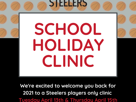 Term 1 Junior Steeler Holiday Clinics