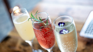 Peach Bellini, Kir Royale, Elderflower Fizz, a few of our favourite Prosecco cocktails!
