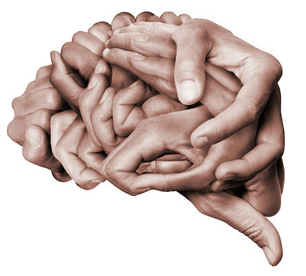 A human brain made with hands