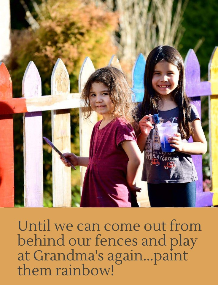 """<img src=""""organic garden and rainbow fence kids will love.png"""" alt=""""Maya and Midori paint their fence rainbow in their organic garden"""">"""