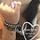Thumbnail: key ring wrist huggle, gold leopard & silver leopard, set of 2