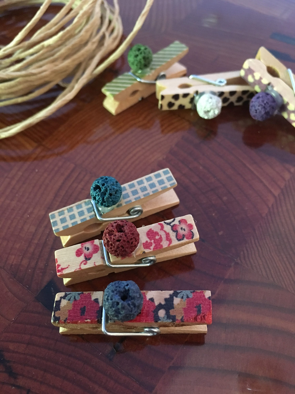 natural essential oil aromatherapy car air freshener handmade by kid entrepreneurs as they learn to spend save and share. percentage donated to charity.