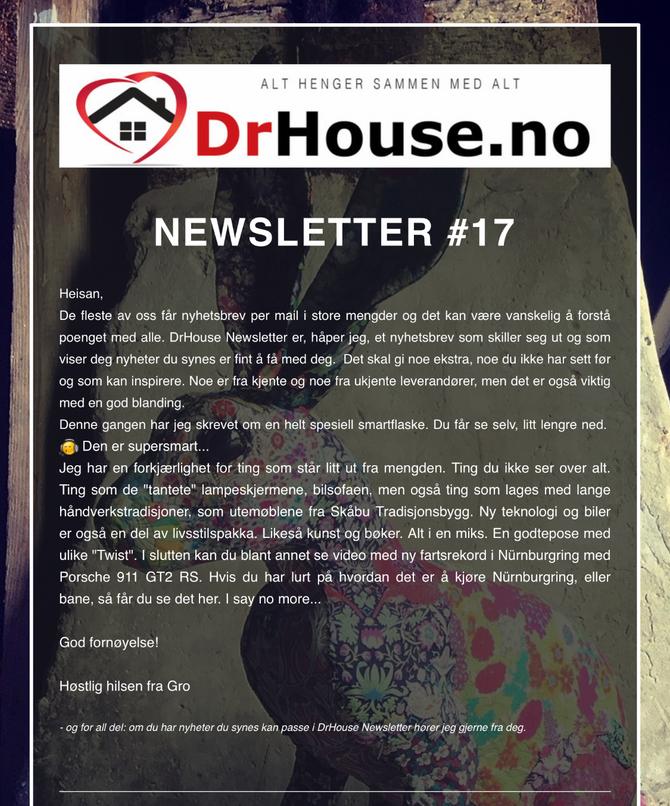 DrHouse Newsletter #17
