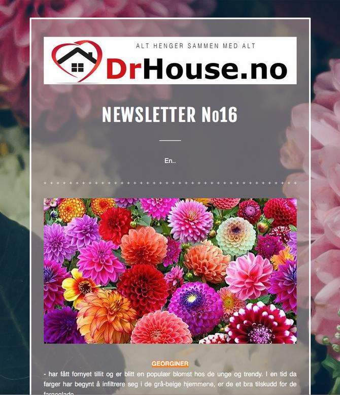 DrHouse Newsletter No16 - straks klart...