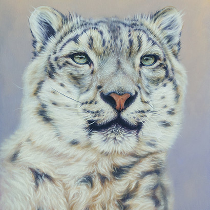 Snow Leopard Painting