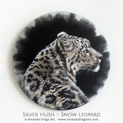 """Silver Hush"" Snow Leopard Painting"