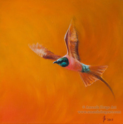 Northern Carmine Bee Eater Oil Painting