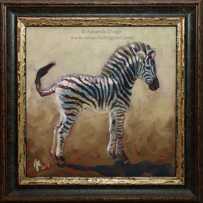 Zebra Foal Painting