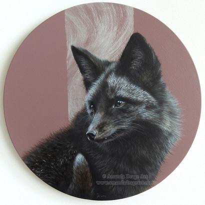 Black Fox Painting