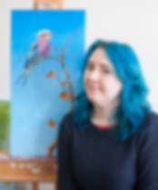 Amanda Drage in her studio