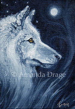 White Wolf Miniature Painting