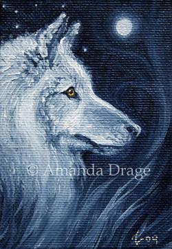 White Wolf Miniature Painting