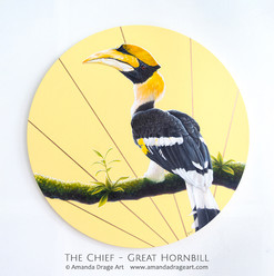 """The Chief"" Great Hornbill Painting"