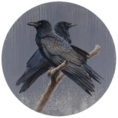 Crow Pair Painting