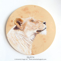 """Queen"" Lion Painting"