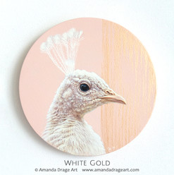 White Peacock Painting