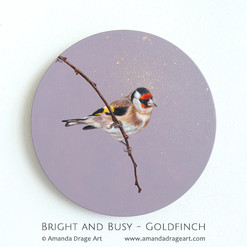 """Bright and Busy"" Goldfinch Painting"