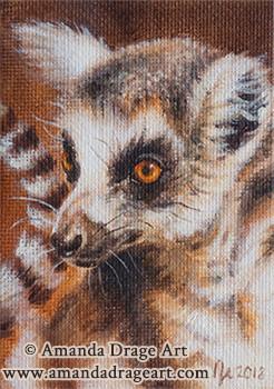 Lemur Miniature Painting