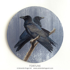 """Fortune"" Crows Painting"