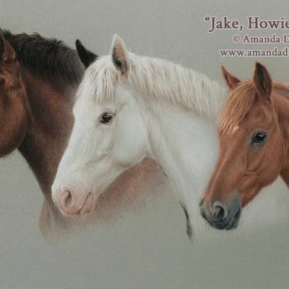 Horses and Pony Pastel Portrait