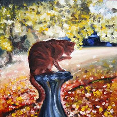 Ginger Cat Oil Painting