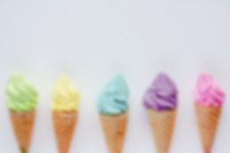 various-ice-cream-cone-white-background-