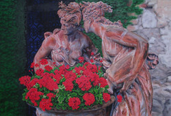 7.)++Gossiping+Statues+of+the+French+Riviera++(+oil+-+36x24+.JPG