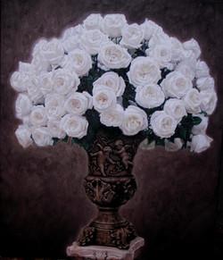 6.)+White+Roses+in+Bronze+Angel+Vase++(+oil+-+24++x++20+).JPG