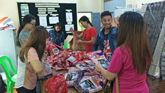 CMCL Staff preparing the relief goods.