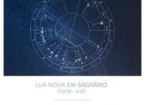 Lua Nova em Sagitário 2018 - 7/12 às 4:20