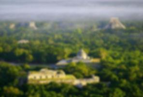 landscape-nature-chichen-itza-temple-wal