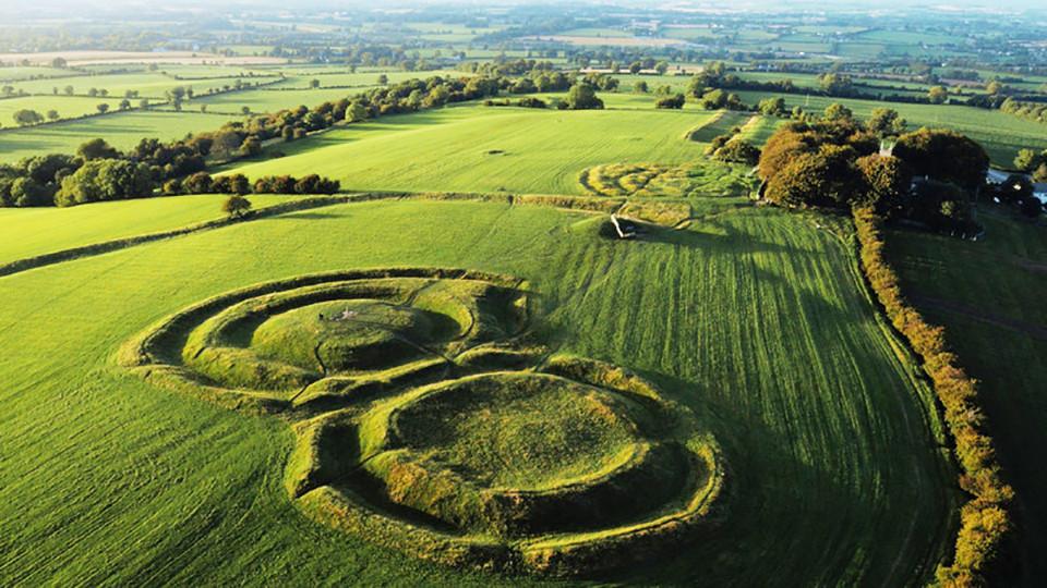 Vista aérea de Hill of Tara - Irlanda