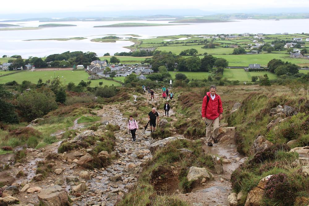 Croagh Patrick Mountain - trecho inicial de subida