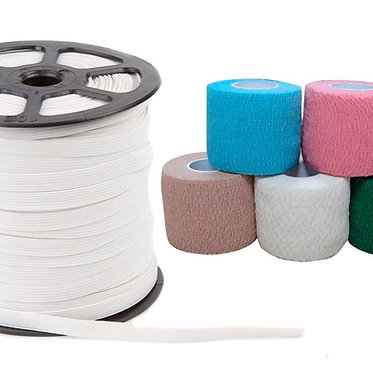 Elástico de Algodón, Polyester y Elastizado