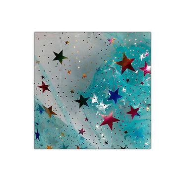 Organza con Estrellas