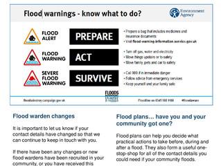 Flood Warden Newsletter