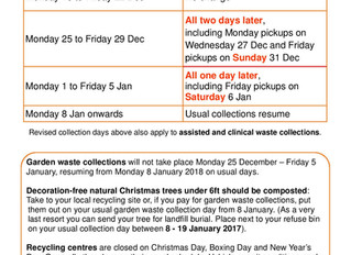 Recycling & Refuse Collections Bank Holiday Changes