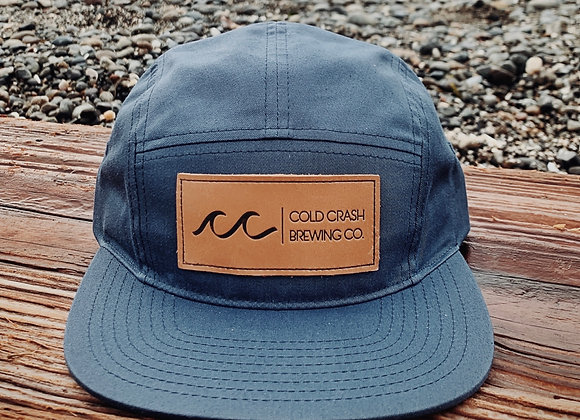 5-Panel Leather Patch Strapback | Cold Crash Brewing Co.