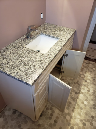 New vanity and top.