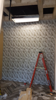 Large Wall With Textured Tile